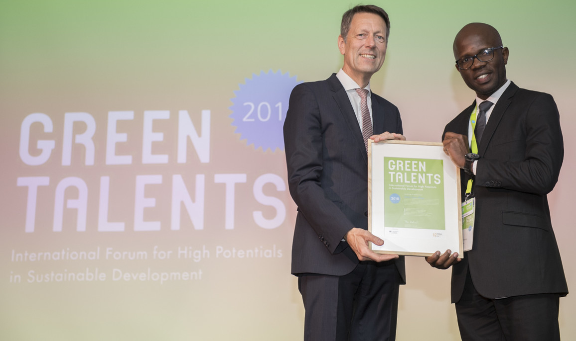Green Talent 2018: Nsilulu Tresor MBUNGU, PhD candidate in Electrical Engineering (DR Congo)