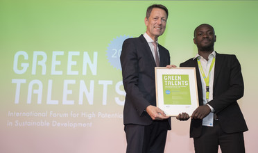 Green Talent 2018: George Kofi PARKU, MEng (Research) student in Chemical Engineering (Ghana)