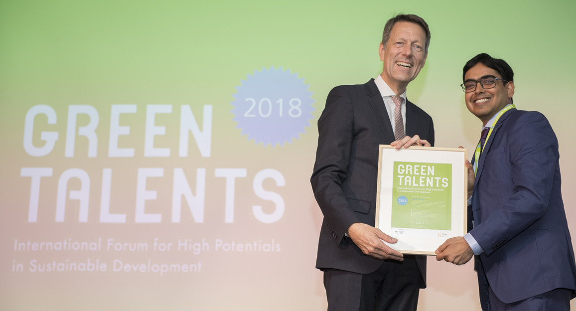 Green Talent 2018: Vishal TRIPATHI, PhD student in Environmental Science and Technology (India)