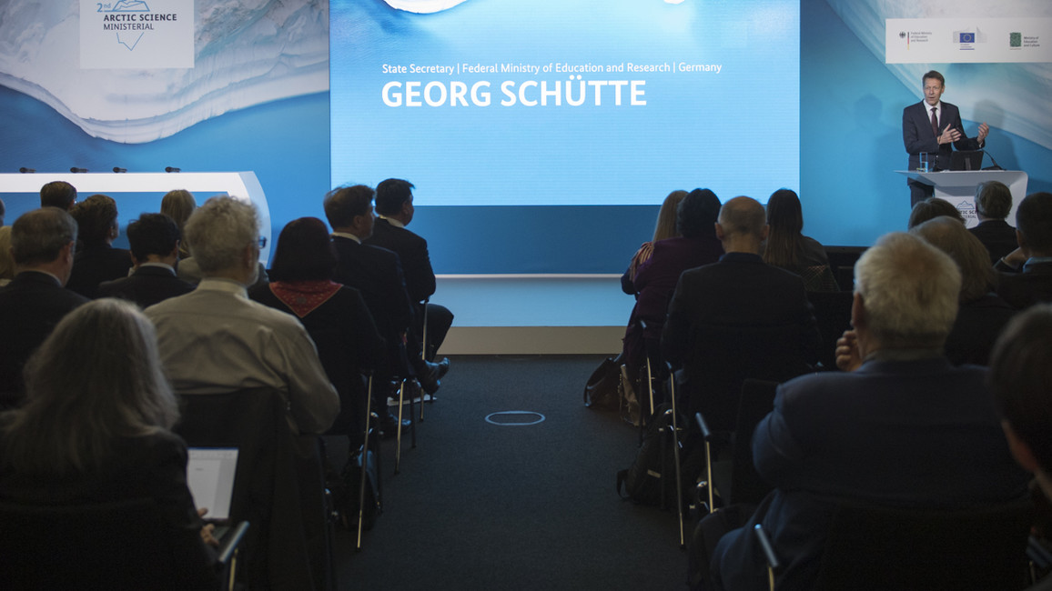 &quotThe Arctic is a key region for the global climate and an indicator of future global changes&quot, sagt Staatssekretär Schütte.