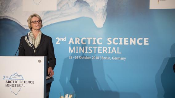 Bundesministerin Anja Karliczek eröffnet die 2. Arktiskonferenz in Berlin