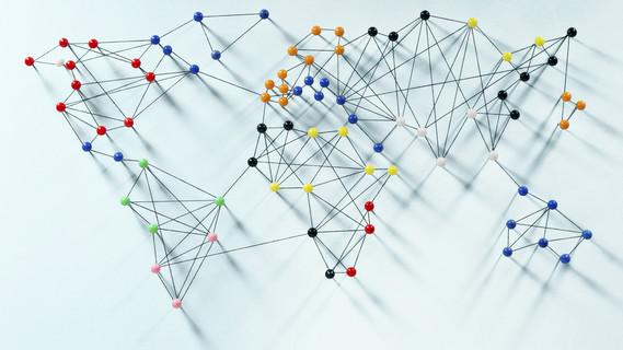 Symbolbild f�r globale Vernetzung