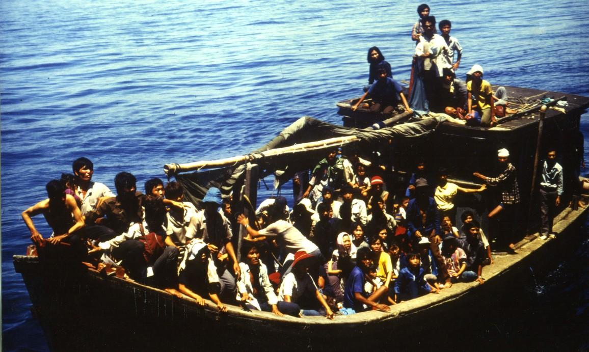 Im Sommer 1988 rettete das Forschungsschiff SONNE 159 vietnamesische Boatpeople aus Seenot.