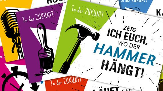Collage aus Postkarten zum Berufsorientierungsprogramm