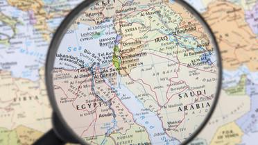 Blick auf Afrika und den Nahen Osten