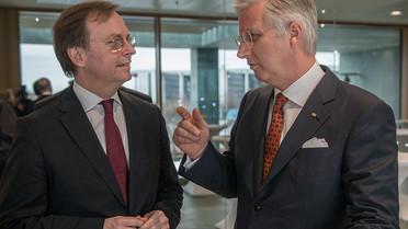 Thomas Rachel, Parlamentarischer Staatssekretär bei der BMBF, mit König Philippe von Belgien.