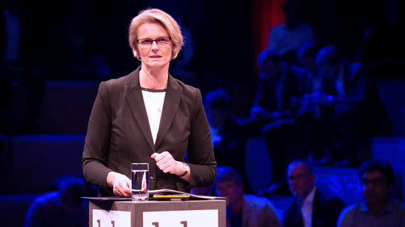 Anja Karliczek während ihrer Rede.