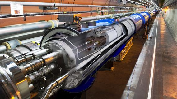 27 Kilometer lang und bis zu 175 Meter unter der Erde: Der LHC ist der größte Teilchenbeschleuniger der Welt.