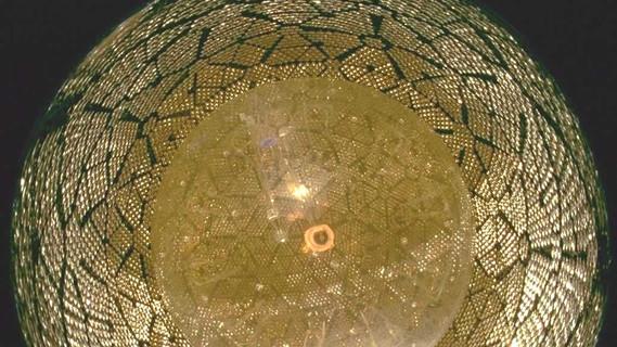 Blick in das Innere des SNO-Neutrino-Detektors