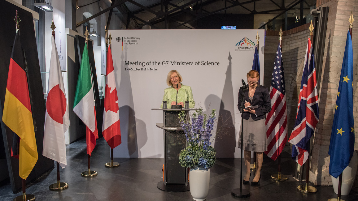 Bundesministerin Johanna Wanka eröffnet das Treffen der Wissenschaftsminister