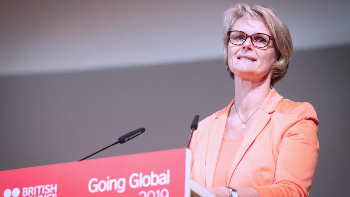 Bundesbildungsministerin Anja Karliczek eröffnet in Berlin die Bildungskonferenz Going Global 2019 des British Council.