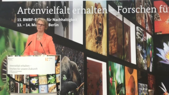 Poster zum Video FONA 2019 Rede Karliczek
