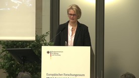 Poster zum Video Konferenz zum Europäischen Forschungsraum
