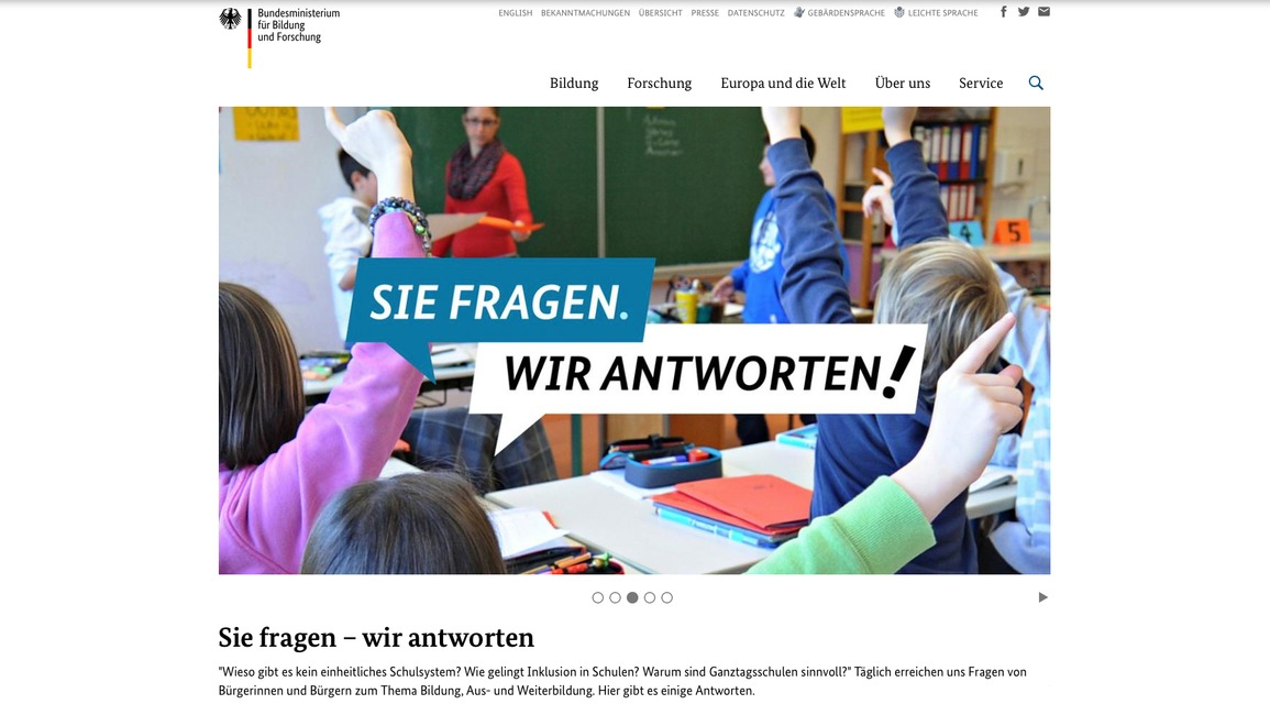 Neues bmbf.de