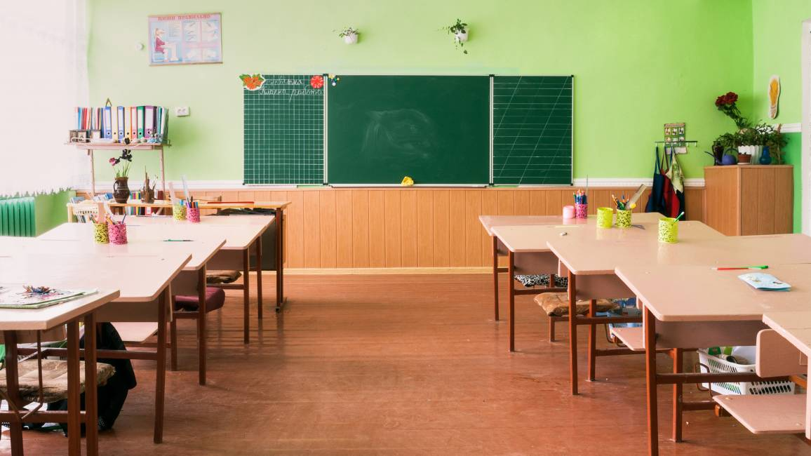 Klassenraum ohne Schüler