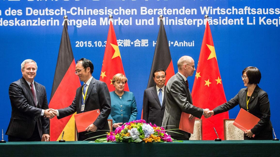 """Unterzeichnung der Vereinbarung zu """"Urban Catchments"""" zwischen Deutschland und China"""