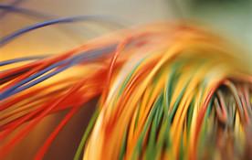 Farbige elektrische Kabel