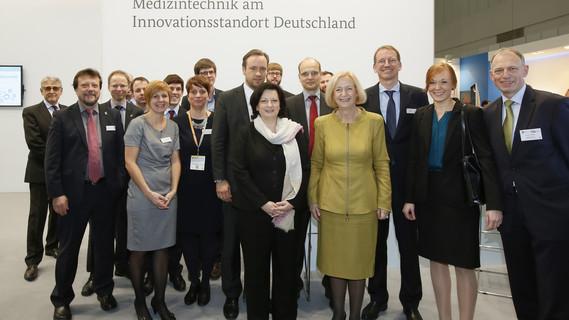 Das neue Förderkonzept Medizininformatik wurde von Bundesforschungsministerin auf der MEDICA 2015 in Düsseldorf vorgestellt.
