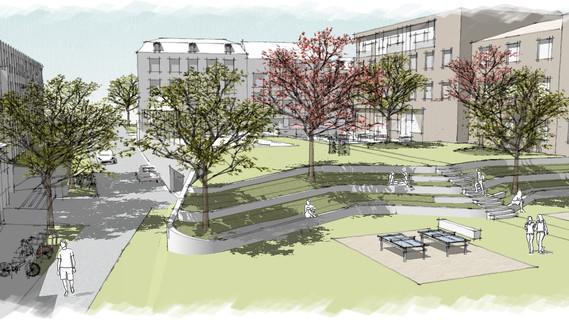 Ein Campus zum Leben und Lernen: So soll das Pings nach Fertigstellung aussehen.