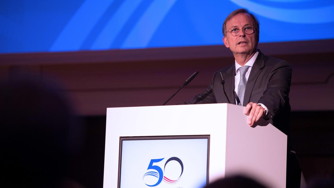Thomas Rachel, Parlamentarischer Staatssekretär bei der Bundesministerin für Bildung und Forschung, nahm am Empfang anlässlich des 50jährigen Bestehens der deutsch-israelischen Zusammenarbeit in der Berufsbildung teil.