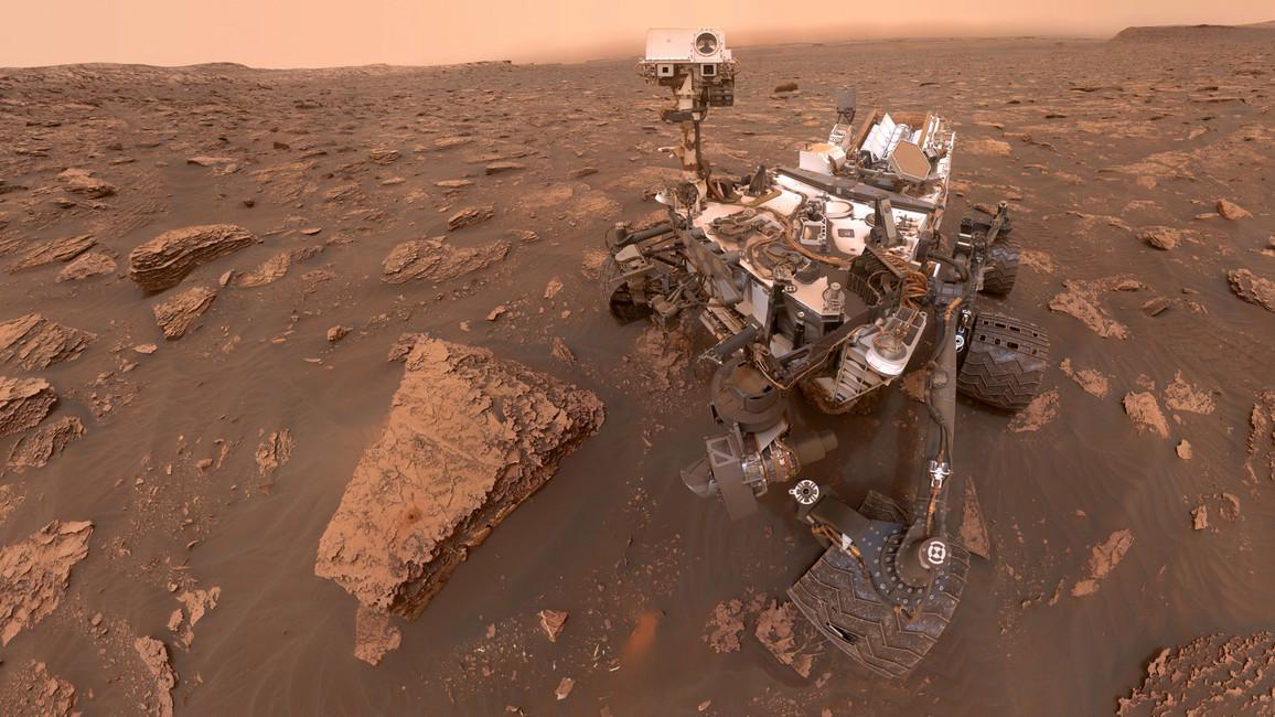Der Ketek-Sensor auf dem Curiosity-Rover von 2012 auf der Oberfläche des Mars.