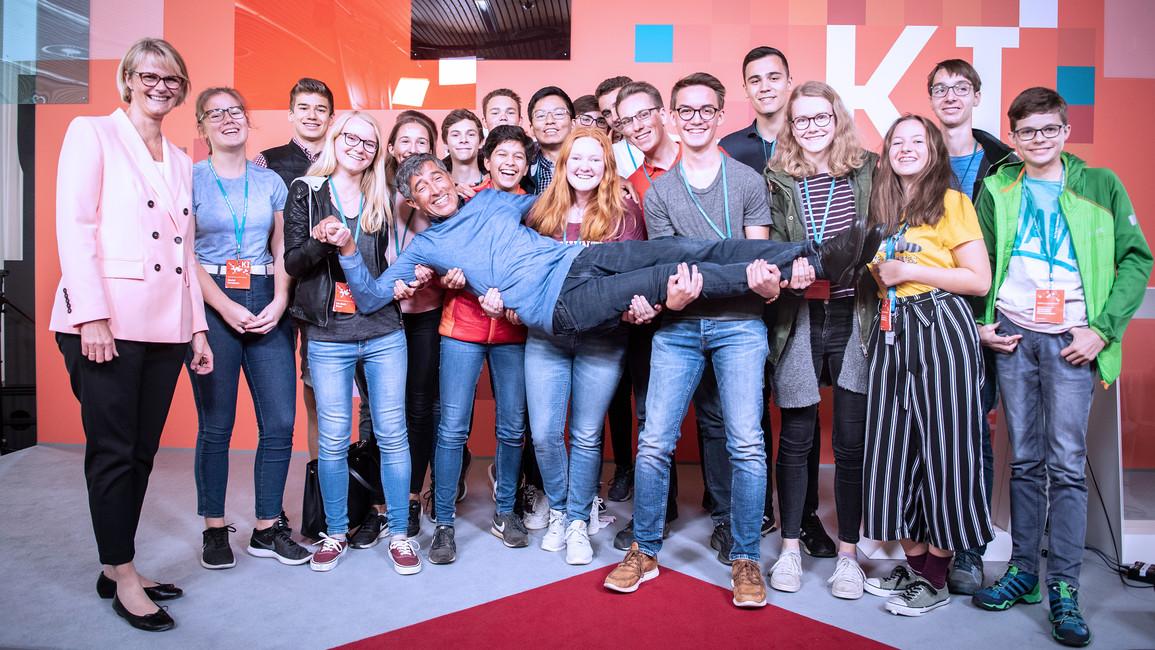 Bundesministerin Anja Karliczek eröffnet die Abschlussveranstaltung zum Tag der Talente 2019