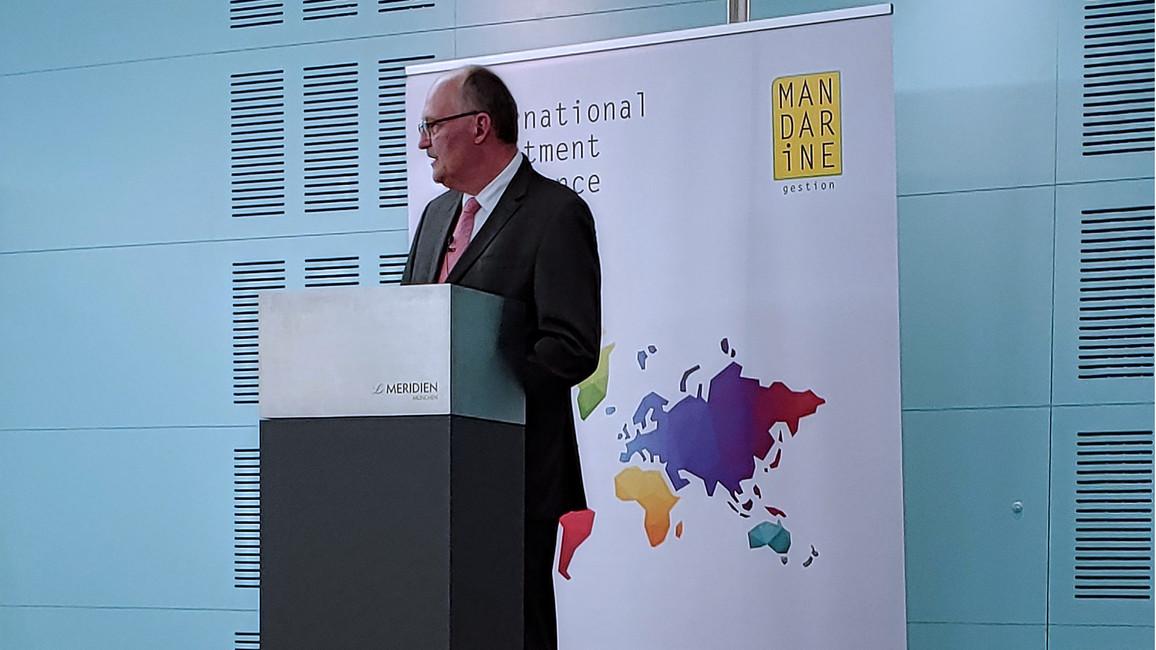 Michael Meister während seiner Rede.