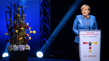 In ihrer Festansprache rief Bundeskanzlerin Angela Merkel dazu auf, sich an der Vielfalt unseres Landes zu erfreuen.