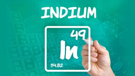 Chemisches Zeichen für Indium