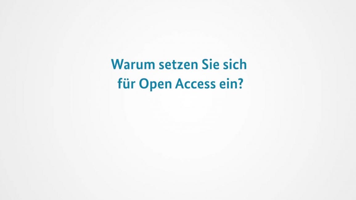 Poster zum Video Open Access in der Wissenschaft
