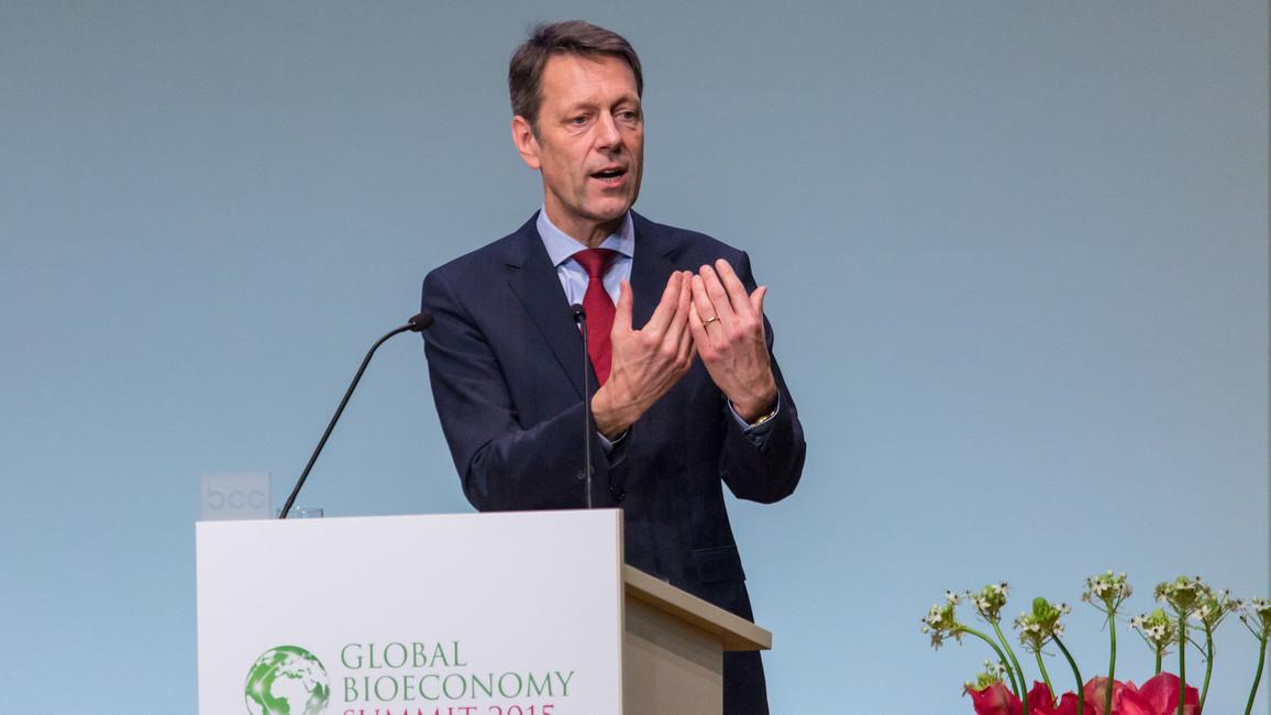 Forschungsstaatssekretär Georg Schütte während seiner Rede