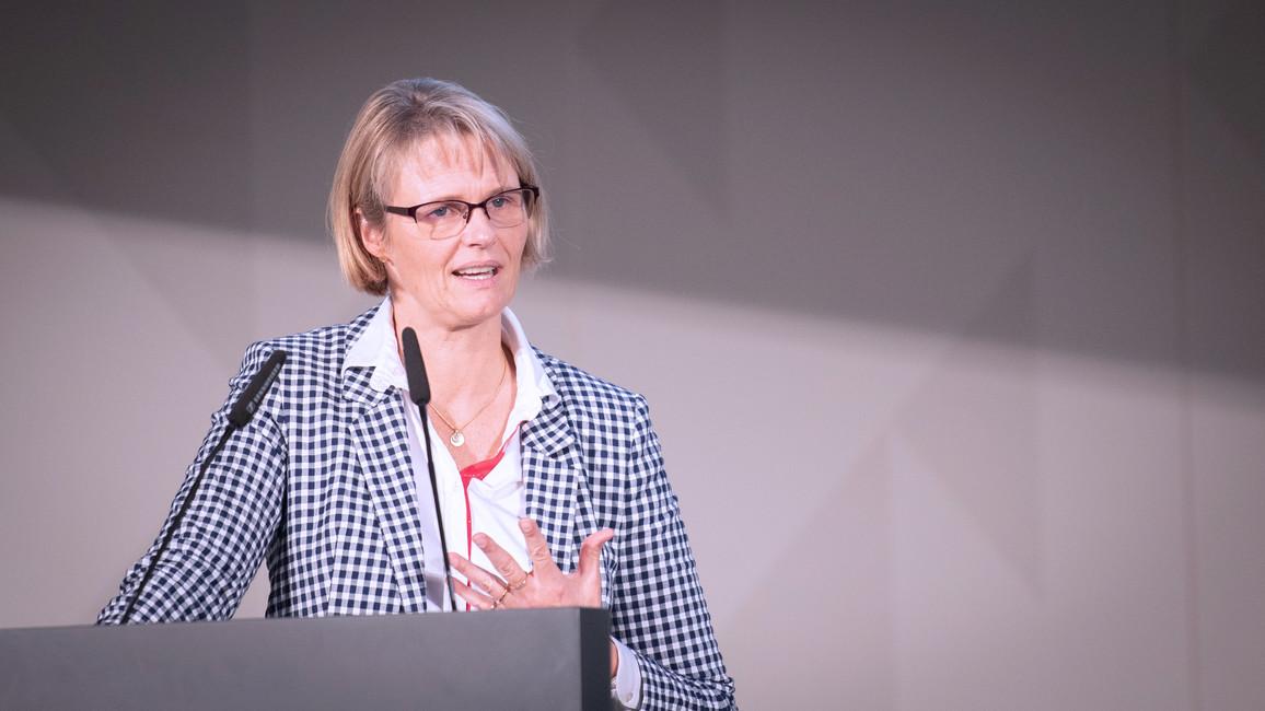 """""""Wir brauchen Mut zum Risiko. Die Startups von heute sind der Mittelstand und die global agierenden Unternehmen von morgen', betonte Bundesministerin Anja Karliczek während ihrer Rede."""