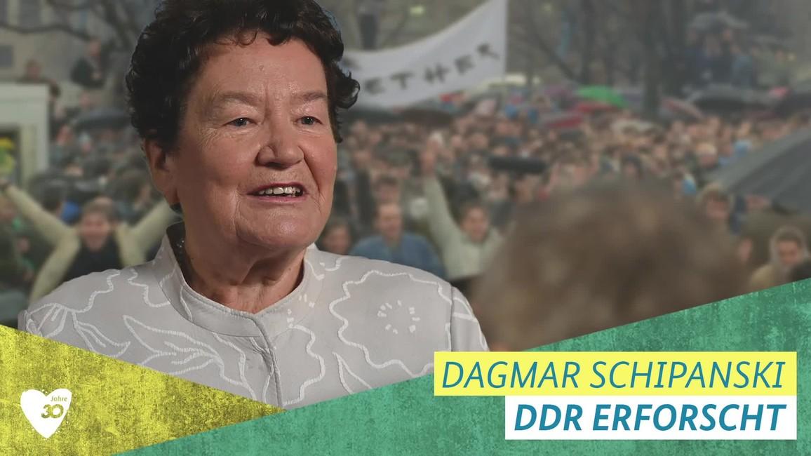 Poster zum Video Dagmar Schipanski über den Mauerfall