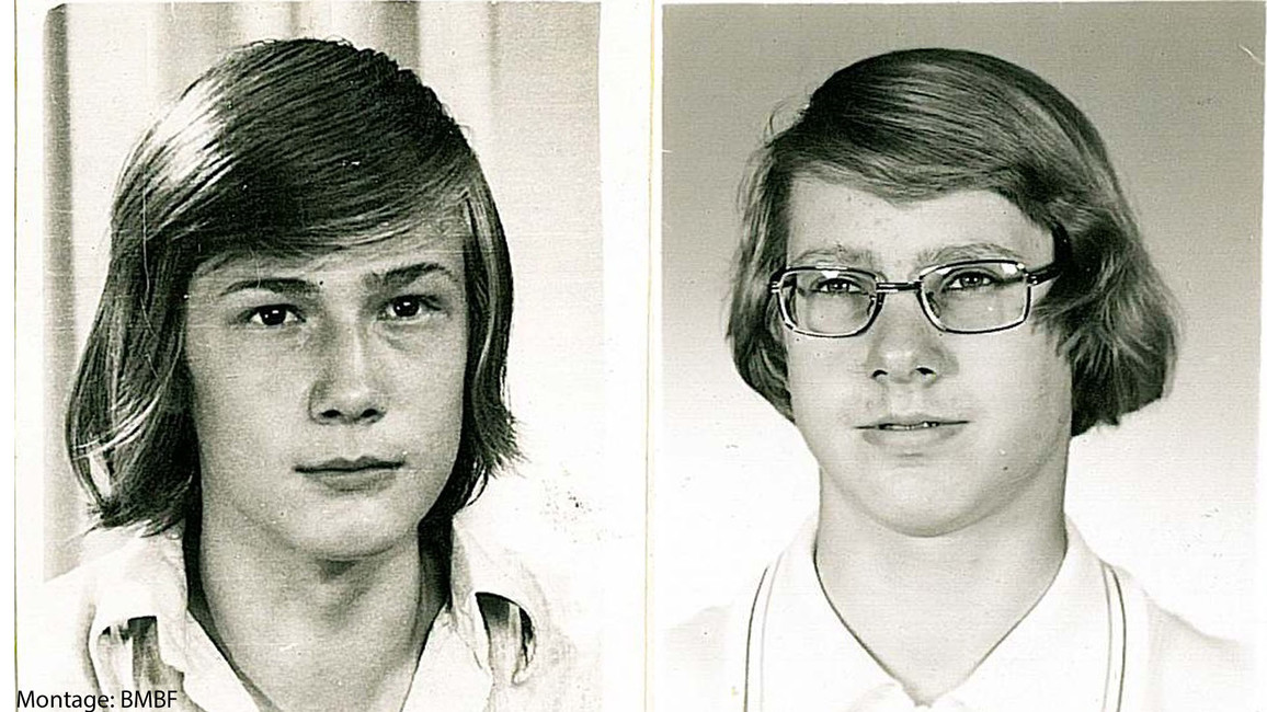 Andreas Stützer (l.) und Detlef Heiner, hier auf einer Montage aus Einzelfotos, wurden an der bulgarisch-griechischen Grenze erschossen.e