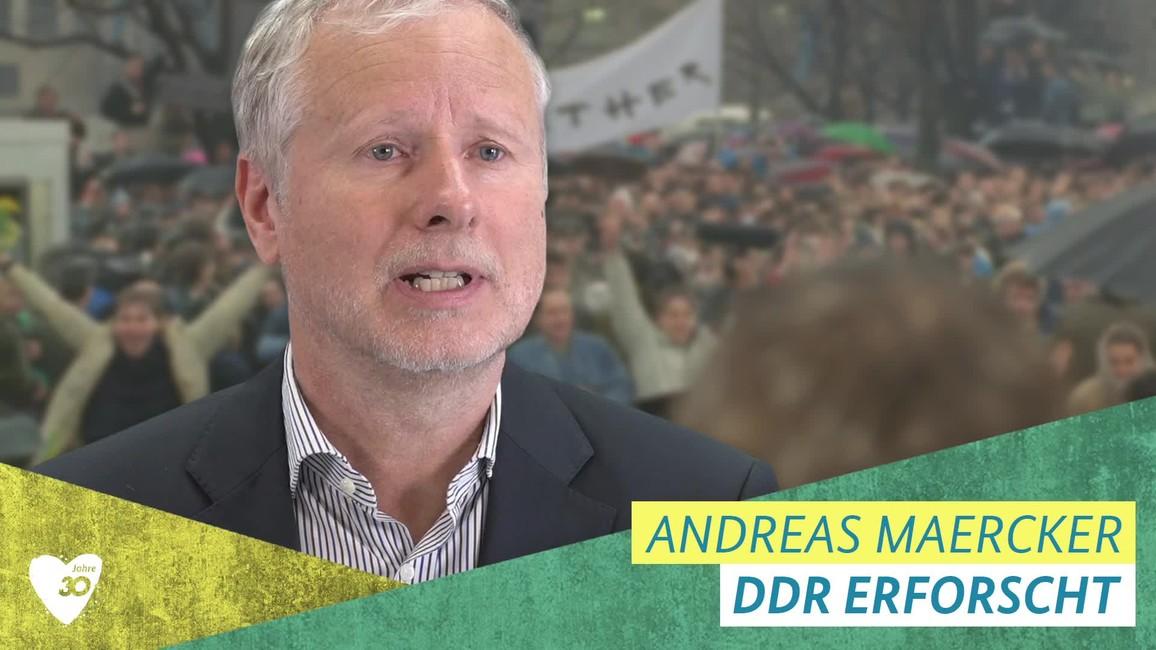 Poster zum Video Andreas Maercker über den Mauerfall
