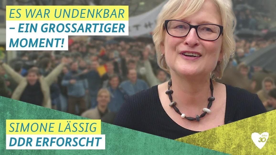 Poster zum Video Video zu 30 Jahre Mauerfall mit Prof. Dr.  Simone Lässig