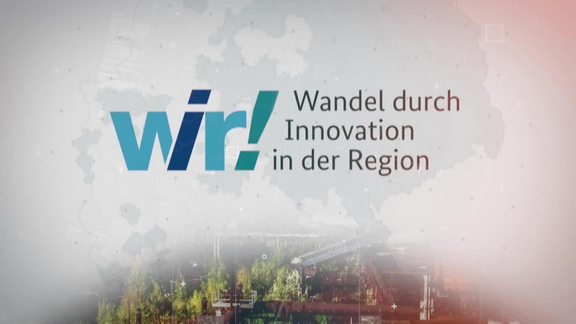 """Poster zum Video Das Förderprogramm """"WIR! – Wandel durch Innovation in der Region"""""""