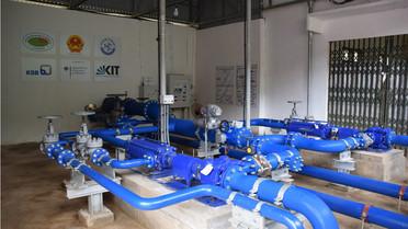 Die neue Wasserförderanlage versorgt bis zu 10.000 Menschen.