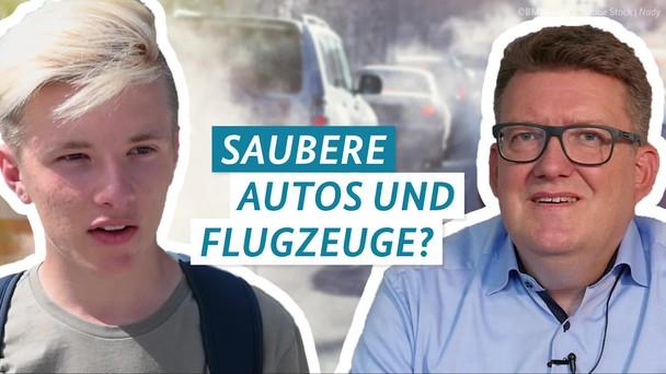 Poster zum Video Fragen4Future Folge 9: Saubere Autos und Flugzeuge?