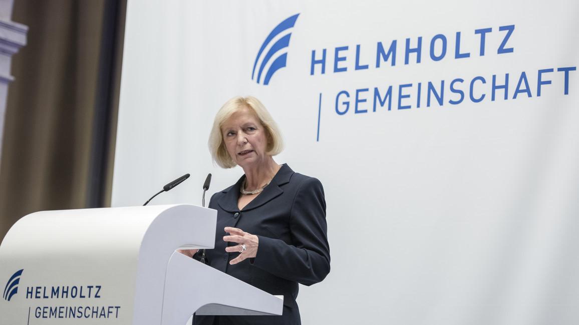 Bundesforschungsministerin Johanna Wanka während ihrer Rede