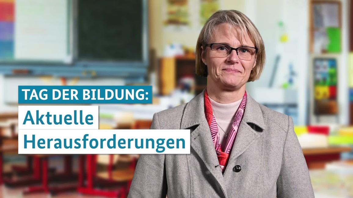 Poster zum Video Statement von Ministerin Anja Karliczek zum Tag der Bildung