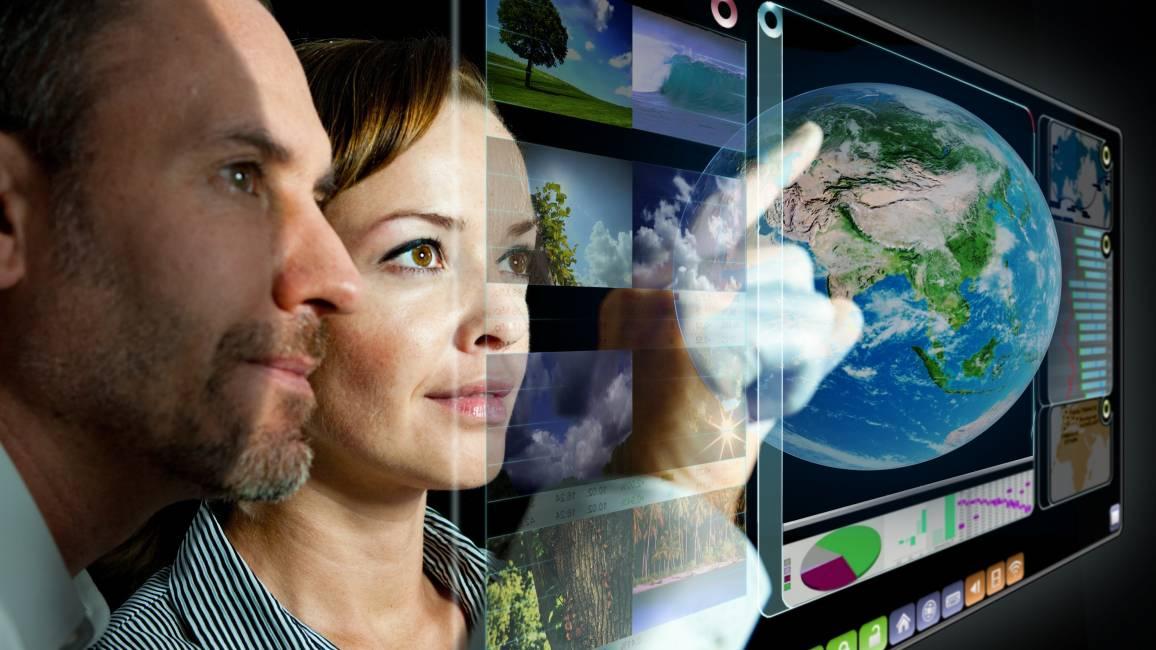 Projektion der Zukunftstechnologien, Globus, Menschen, Innovation, Agrarsysteme, Nachhaltigkeit, Bioökonomie