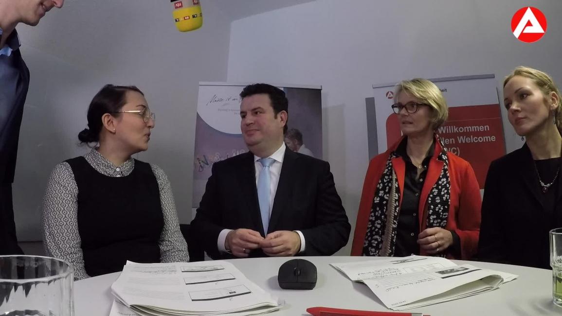 Poster zum Video OnlineWorkshop während der ZSBA-Eröffnung mit Frau Karliczek und Herrn Heil