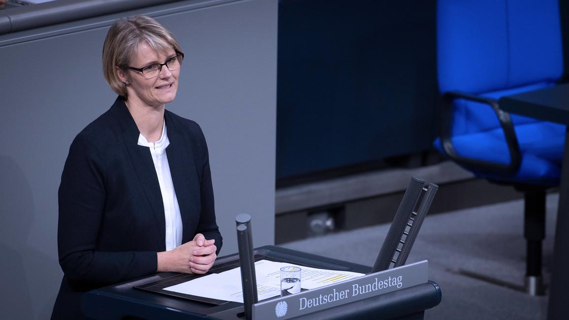 Bundesministerin Anja Karliczek während ihrer Rede.