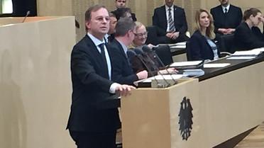 Thomas Rachel während seiner Rede