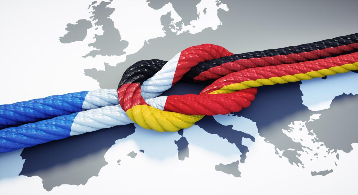 Flaggenbild Deutschland und Frankreich