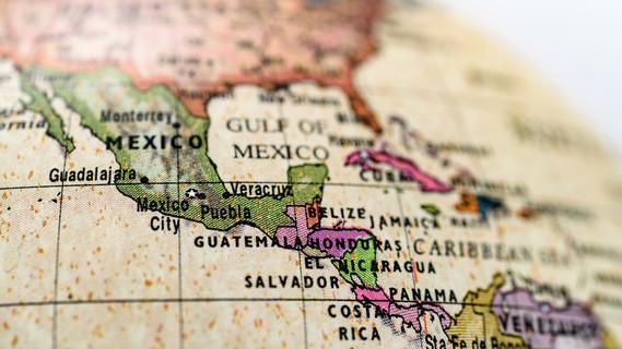 Kartenausschnitt Lateinamerika