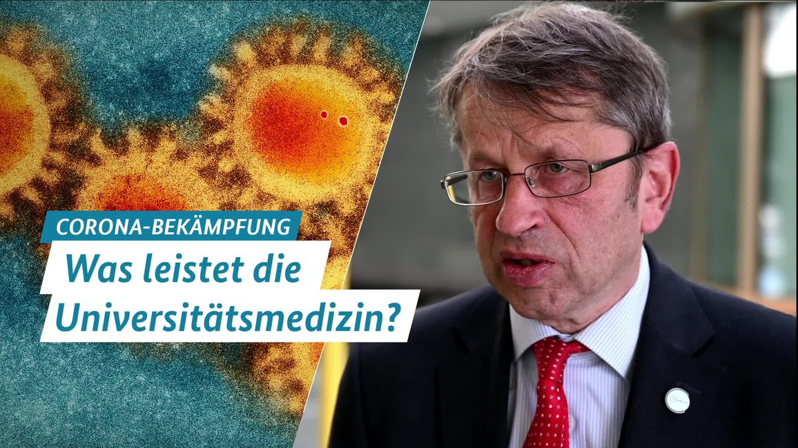 Poster zum Video Interview mit Prof. Dr. Heyo Kroemer, Was leistet die Universitätsmedizin?