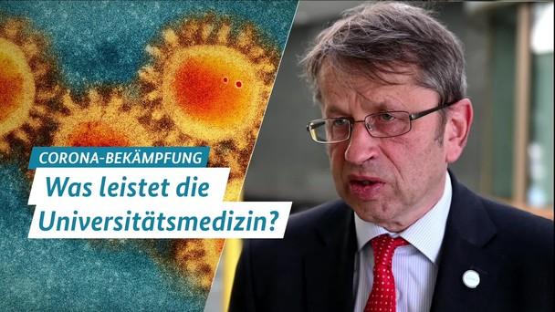Poster zum Video Interview mit Prof. Dr. Heyo Kroemer, Was leistet die Universitätsmedizin?