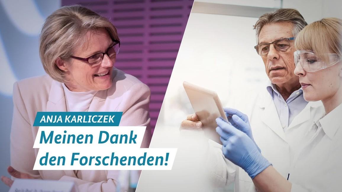 Poster zum Video Anja Karliczek: Meinen Dank den Forschenden!